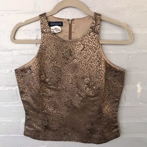 Ann Taylor gold brocade top size 6
